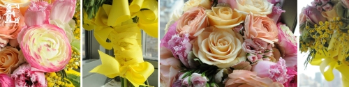 "Bright colors and seasonal flowers make this a fun ""springtime"" bouquet.  Tulips are great this time of year and there are so many to chooses from.  You can also never go wrong with roses."