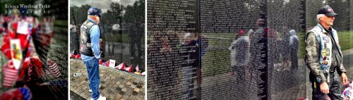 I happen to be here for Memorial Day weekend, so many Vets came to remember their friends.