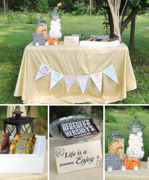 Here is the S'Mores bar, of course you can't go camping without a campfire and S'mores!