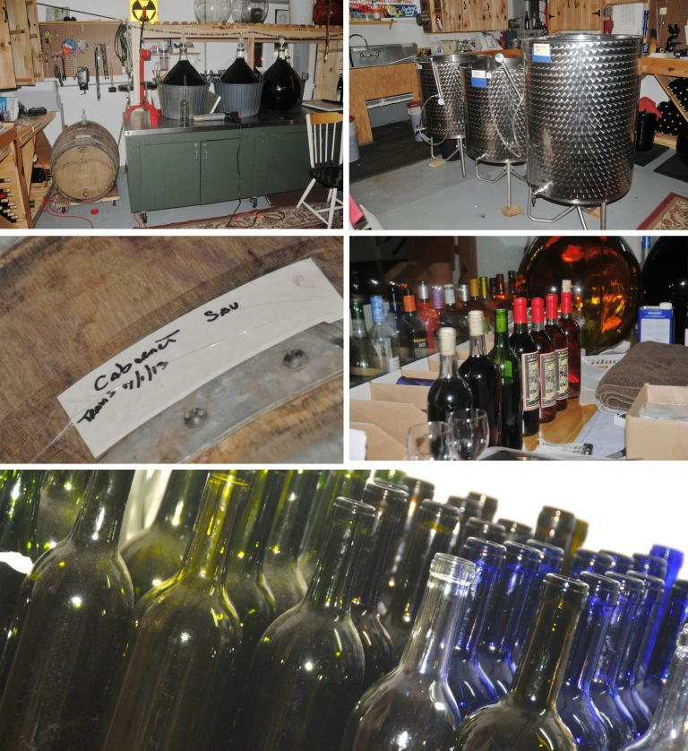 "This is Marshal's wine workshop.  For a very small winery he turns out a lot of bottles.  Two of his most popular wines are ""Girls Night Out"" a delicious red made with chocolate and ""Blueberry Surprise"", a very pleasant, slightly sweet red that was a delicious surprise indeed!"