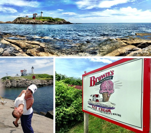 Three of my favorite things in one day: hanging with my nephew Henry, Ice Cream at Brown's and visiting Nubble Light.