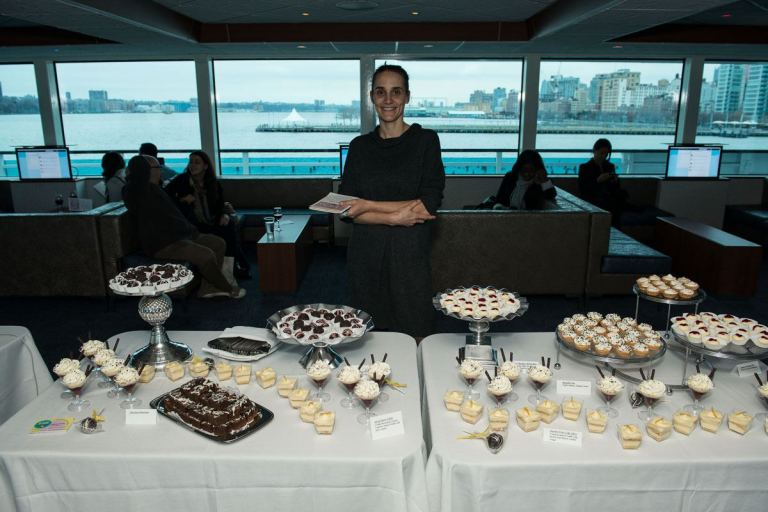 Here is Sabine and her delicious deserts at a Wedding Academy Event.  Photo by Jason Gardner Photography.
