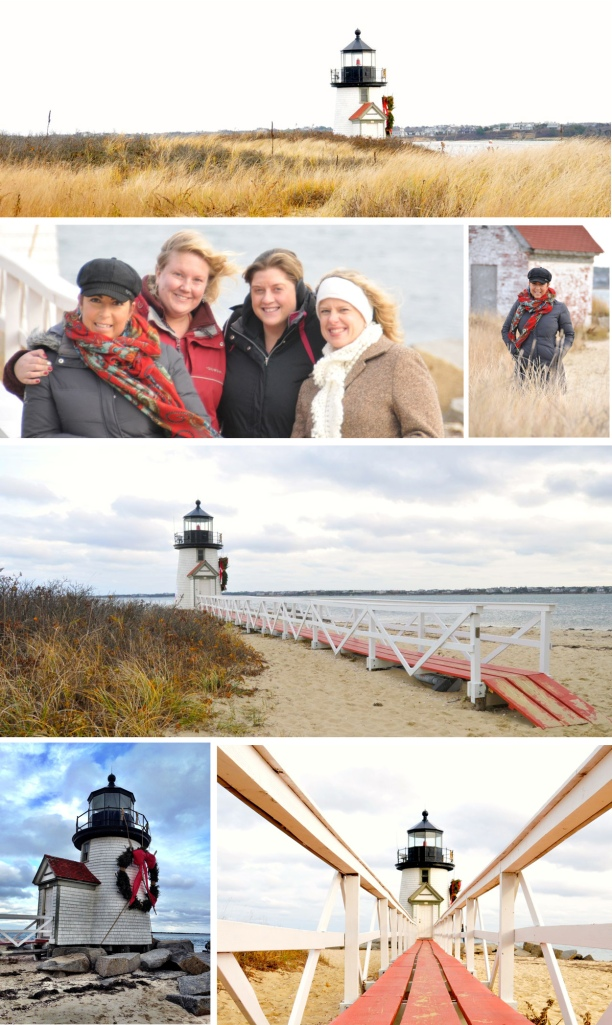 I have always wanted to visit this lighthouse in person.  It's a short walk from downtown and you can walk right up to it.  These are some dear friends of mine that I got to share this special day with: Amy (our lovely host!), Megan and Steff.