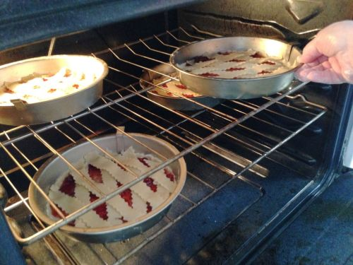 Sandy's baking tip! If cooking 4 tarts in the oven at once, alternate on the oven racks to ensure an even bake.