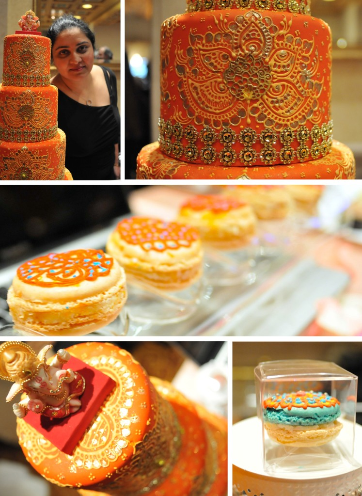 One of my favorite cake designers in NYC, Sandy Patangay is owner and designer of Crème Delicious.  She took her love of Henna and cake design and made a company out of it.  Her designs are intricate, clean and beautiful.  Visit her Facebook and website for more information.