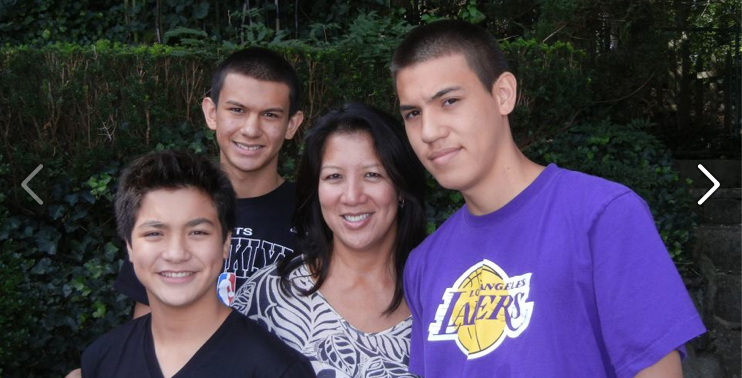 It's a delicate balance of family life and running company.  Here is Annette and her 3 sons.  The oldest is now serving in the military and the younger ones are high school students.