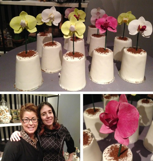 A fun surprise of the night was finally getting to chat with Lauri Ditunno the fabulous and talented baker who owns Cake Alchemy here in NYC.