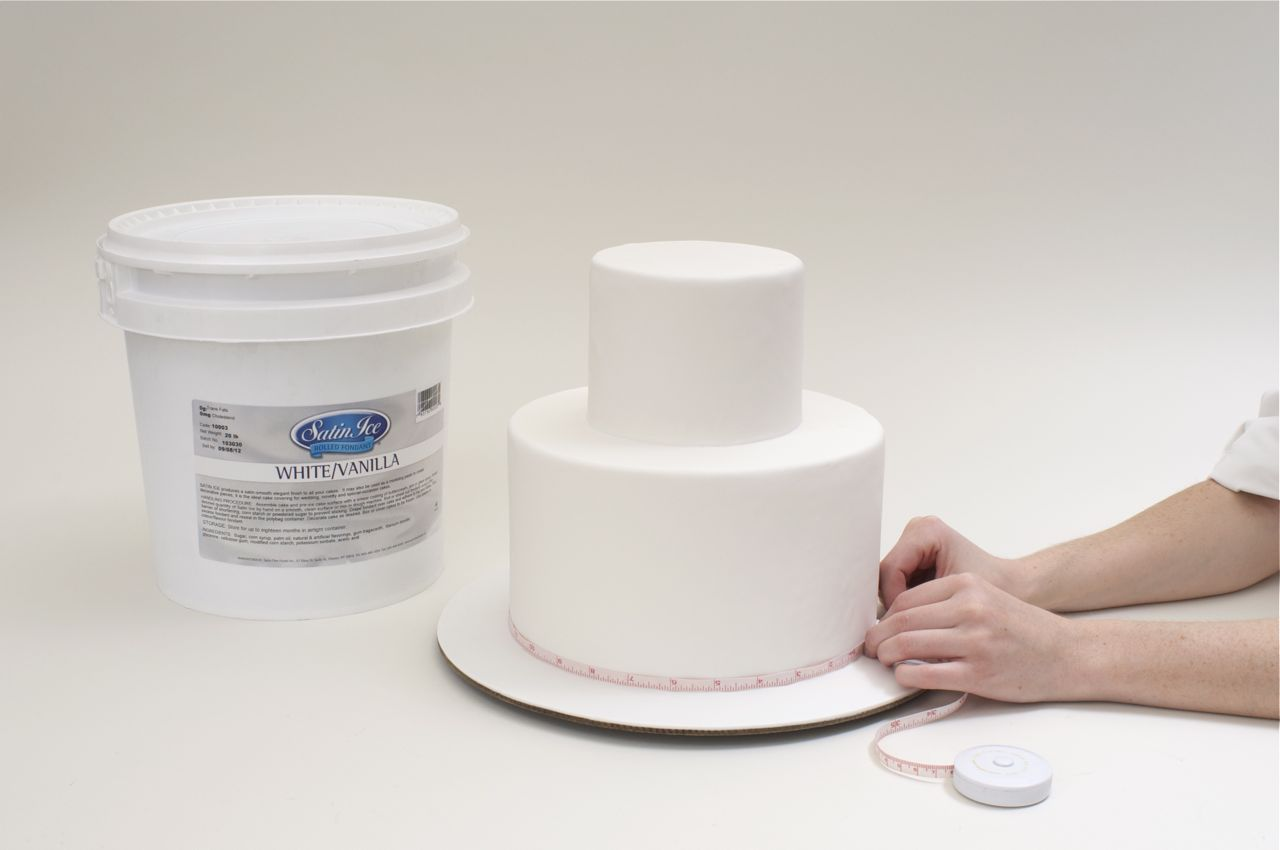 how to measure fondant for cakes