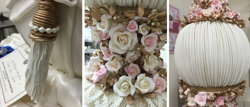 The details were well executed and defined. I also loved the soft pinks she used for her roses. (And the tassels moved!)