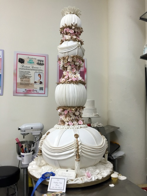 The cake was about as tall as me...
