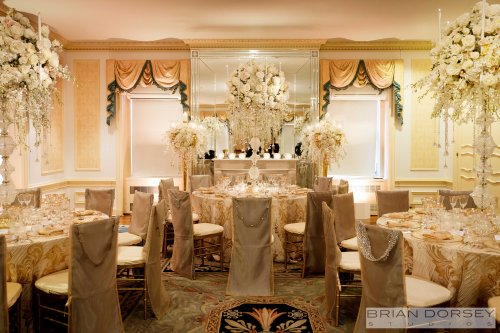 Floralia Decorators added lush florals to the already beautiful details.